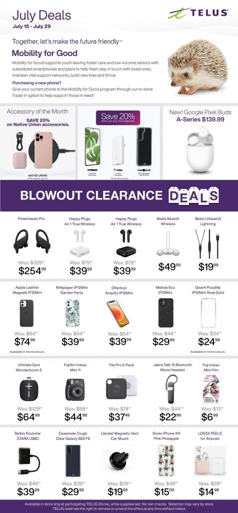 July Deals at Telus